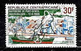 CENTRAFRIQUE 102° 30f Polychrome Inauguration De La Raffinerie De Port Gentil (Gabon) (10% De La Cote + 0,15) - Centrafricaine (République)
