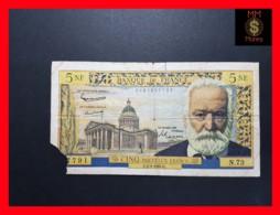 FRANCE 5 Nouveaux Francs 1.2.1962  P. 141   VG - 5 NF 1959-1965 ''Victor Hugo''