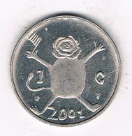 1 GULDEN 2001 NEDERLAND/ 1572/ - [ 3] 1815-… : Royaume Des Pays-Bas