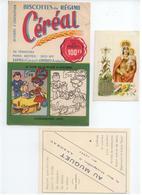 ANNONAY ARDECHE LOT 5 PUBLICITES BUVARD CEREAL PAYA BEOLET IMAGE CHROMO MARGIRIER CHAPEAUX AU MUGUET VOIR DETAILS - Advertising