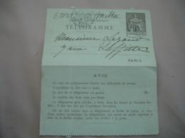 Pneumatique Carte Entier Postal Chaplain 50 C  Gris Telegramme Paris Rue Milton - Postal Stamped Stationery