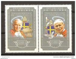 GUINEA - 2014 Canonizzazione Di Papa GIOVANNI PAOLO II 2v. Nuovi** MNH - Papi