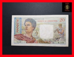 TAHITI PAPEETE 20 Francs  1951  P. 21   VF - Papeete (Polynésie Française 1914-1985)