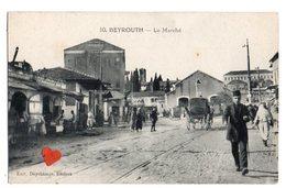 01639-LE-LIBAN-BEYROUTH-Le Marché-------------animée-attelages - Liban