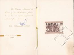 STAMP HOMENAJE A CERVANTES. FELIZ AÑO 1970. CARD SIGNEE DR RAIMUNDO ABELLA - BLEUP - Ecrivains