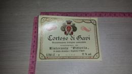 ET-1756 TIGLIOLE D'ASTI RISTORANTE VITTORIA CORTESE DI GAVI - Etiquettes