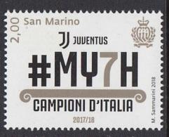 7.- SAN MARINO 2018 Juventus Champion Of Italy 2017-2018 - San Marino