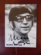 Photographie Marc Aryan Signée - Verso Editions Dupuis Spirou - Photo Breydel - Célébrités