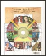 Belgium**MUSIC-Sheet In LP Record Shape-10stamps-2008-MNH-BREL-OPERA-ADAMO-Queen Elisabeth-TURA-Musique-Musik-Muziek-Mus - Neufs