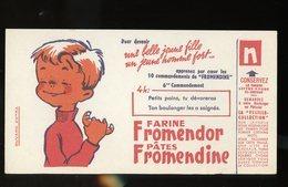 BUVARD:  FARINE FROMENDOR ET PATES FROMENDINE - FORMAT  Env. 11,5X21 Cm - Alimentaire