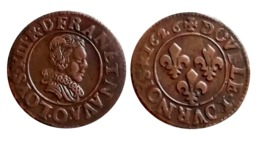 RARE!!! Double Tournois LOUIS XIII 1626 O (Riom) TTB/SUP A VOIR!!! - 1610-1643 Louis XIII Le Juste