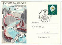Suisse /Schweiz/Svizzera/Switzerland // Journée Du Timbre // 1963 //  Carte De La Journée Du Timbre Fribourg - Giornata Del Francobollo