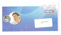 Belle Enveloppe De Maroc Télécom. Affranchissement Par Machine. Cachet. 2008. - Marokko (1956-...)
