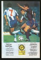 Official Football Programme Dinamo (Tbilisi, Georgia) - Werder (Bremen, Germany) 1987 (calcio, Soccer) - Programs
