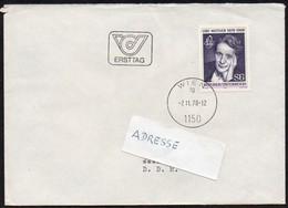 Österreich 1978 MiNr. 1588   Ersttag ;  100. Geburtstag Von Lise Meitner, Atomphysikerin - Atomenergie