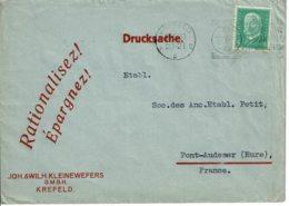 1930 - Lettre De KREFELD Pour La France - Drucksache - Tp Yvert N° 402 - Deutschland
