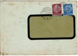 1935 - Lettre De KREFELD Pour La France - Tp Yvert N° 450 + 453 - Allemagne
