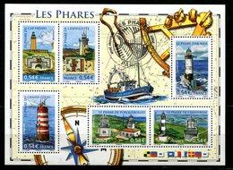 BF 114 Les Phares Avec Cachet PJ Hors Des Timbres Et Sa Gomme - Blocs & Feuillets