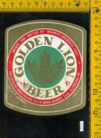 Etichetta Vino Liquore Golden Lion Beer - S. Cipriano Po - Etichette