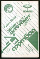 Official Football Programme Zenith (Leningrad) - Stuttgart (Germany) 1989 (calcio, Soccer) - Programs