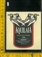 Etichetta Vino Liquore Aquilaia 1988 E. Banti - Montemerano - Etichette