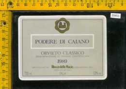 Etichetta Vino Liquore Orvieto Podere Di Caiano 1989 - Castellina In Chianti - Etichette