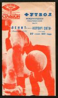 Official Football Programme Zenith (Leningrad) - Norwich City (England) 1991 (calcio, Soccer) - Programs