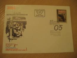 WIEN 1985 40 Year Dachau Buchenwald Ravensbruck ... FDC Cancel Cover AUSTRIA Jewish Religion JUDAISM Zionism - Jewish