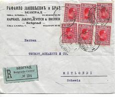 SERBIA CROATIA SLOVENIA 1926 Registered Cover Sent To Mitloedi 6 Stamps COVER UNUSED - Bosnie-Herzegovine