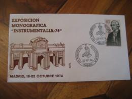 MADRID 1974 Microscope Instrumentalia Cancel Cover SPAIN Science Optics Health - Otros