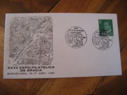 BARCELONA 1981 Microscope Expo Gracia Cancel Cover SPAIN Science Optics Health - Otros