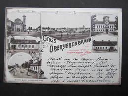 AK OBERSIEBENBRUNN B. Gänserndorf Litho 1900 ////  D*36882 - Gänserndorf