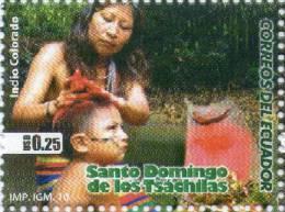 Lote EC19, Ecuador, 2010, Indio Colorado, Sello, Indian People Stamp - Ecuador