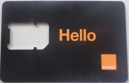 "GSM Card Orange ""FRAME ONLY NO SIM""  (Hello) Egypt 4G (Egypte) (Egitto) (Ägypten) (Egipto) (Egypten) - Egypte"