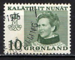 GROENLANDIA - 1973 - EFFIGIE DELLA REGINA MARGARETA II - USATO - Usati