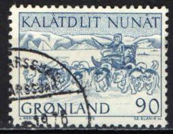 GROENLANDIA - 1972 - I TRASPORTI POSTALI IN GROENLANDIA: TRASPORTI SU SLITTA - USATO - Groenlandia