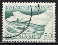 GROENLANDIA - 1971 - I TRASPORTI POSTALI IN GROENLANDIA: TRASPORTO SU KAJAK - USATO - Groenlandia