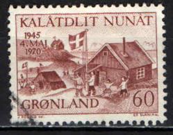 GROENLANDIA - 1970 - 25° ANNIVERSARIO DELLA LIBERAZIONE DELLA DANIMARCA - USATO - Groenlandia