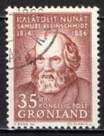 GROENLANDIA - 1964 - SAMUEL PETRUS KLEINSCHMIDT - USATO - Groenlandia