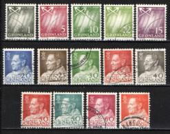 GROENLANDIA - 1963 - AURORA BOREALE, EFFIGIE DEL RE FEDERICO IX - USATI - Usati