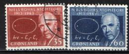 GROENLANDIA - 1963 - 50° ANNIVERSARIO DELLA TEORIA DELL'ATOMO DI NIELS BOHRS - USATI - Groenlandia