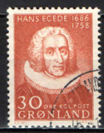 GROENLANDIA - 1958 - BICENTENARIO DELLA MORTE DI H. EGEDE - USATO - Groenlandia