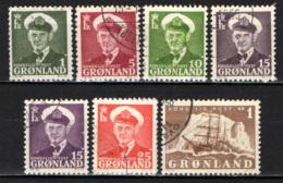 "GROENLANDIA - 1950 - RE FEDEREICO IX E VELIERO ""GUSTAV HOLM"" - USATI - Groenlandia"