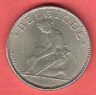 """1 Franc , BELGIQUE , """" BELGIQUE """" , Nickel , 1922 , N° KM # 89 - 1909-1934: Albert I"""