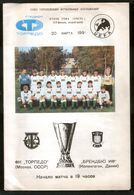 Official Football Programme Torpedo (Moscow, USSR) - Brondby (Copenhagen, Denmark) 1991 (calcio, Soccer) - Programs
