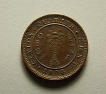 Ceylon 1/4 Cent 1904 - Sri Lanka