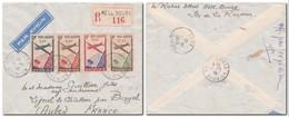 RÉUNION - Poste Aérienne YT 2/4 Sur Lettre Recommandée Par Avion De HELL BOURG Pour La France Du 29/11/1946 - Reunion Island (1852-1975)