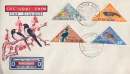 Enveloppe  FDC   1er  Jour   VIETNAM    OISEAUX   1970 - Viêt-Nam