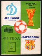 Official Football Programme Dinamo (Moscow, USSR) - Barcelona (Spain) 1987 (calcio, Soccer) - Programs