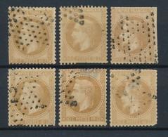 FRANCE - N°YT 28AX6 OBLITERES POUR ETUDE DES ETOILES DE PARIS - COTE YT : 120€ - 1867 - 1863-1870 Napoléon III. Laure